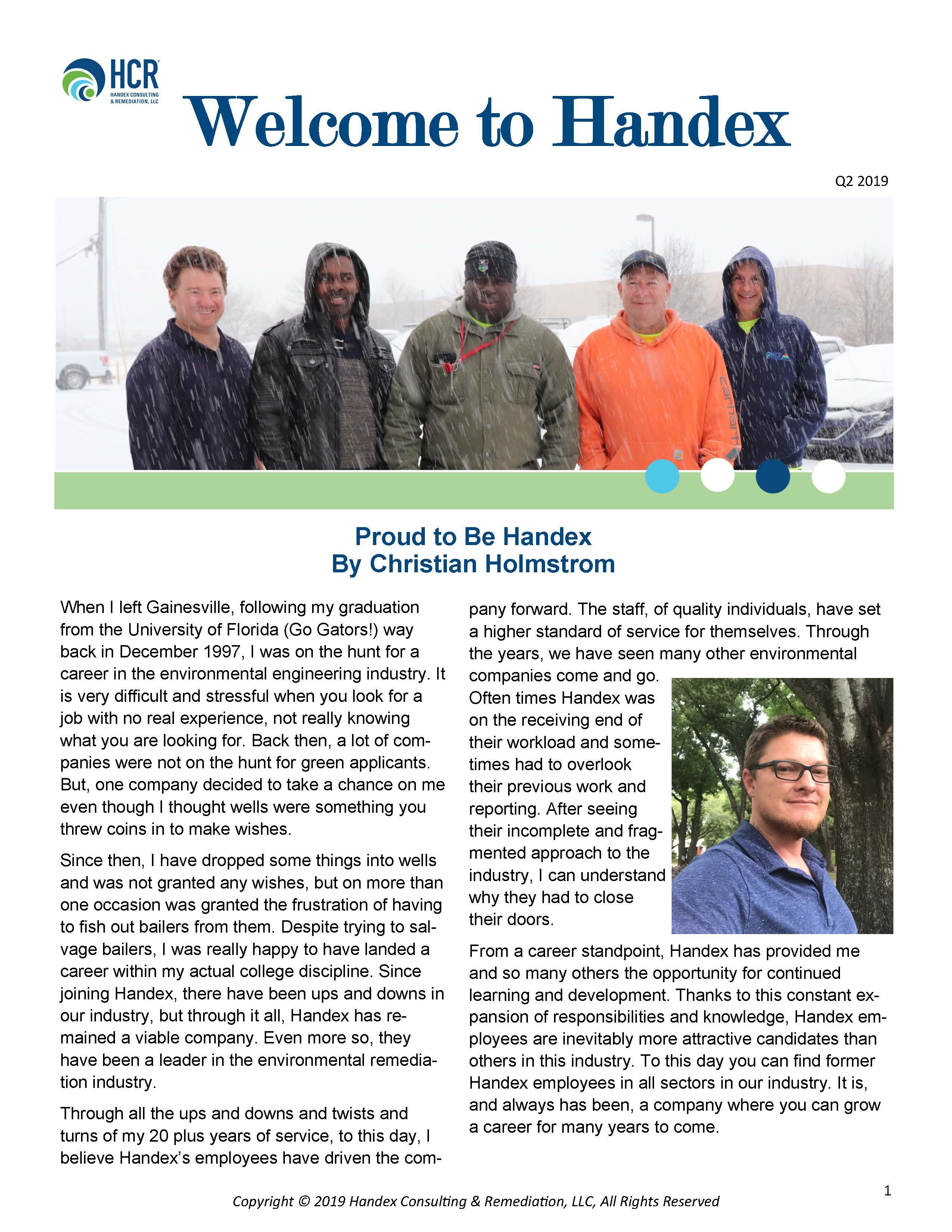 Handex Quarterly Newsletter Q2 2019
