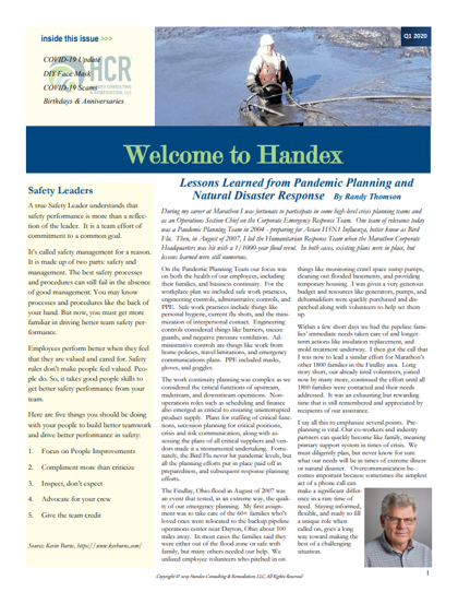 Welcome to Handex Newsletter Q1 2020