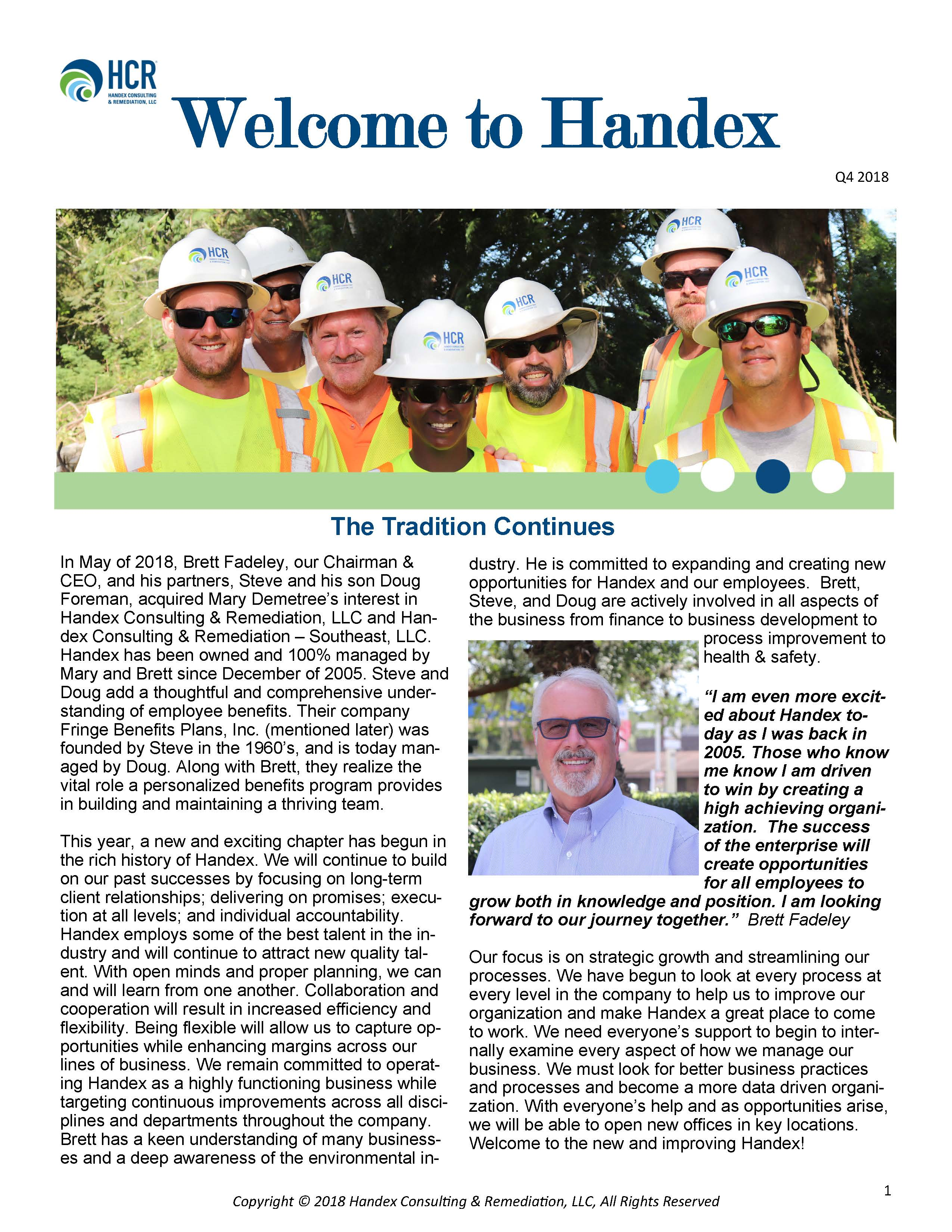Welcome to Handex_Q4 2018 Newsletter_Page_1